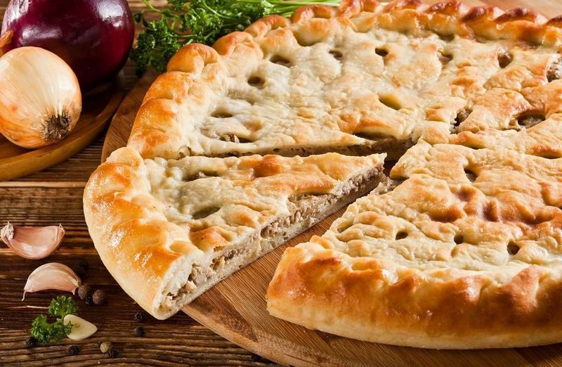 Осетинский пирог с мясом картинки петель